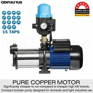 227LPM Centaurus 5 Stage Multi Water Pump Rain Water Tank - Pumps up to 15 taps