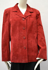 Size L  Red Suede 1990`s Vintage Jacket by MILAN leather