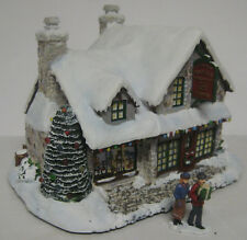 Thomas Kinkade Santa'S Workshop Toys Hawthorne Village Lighted 2000 Christmas