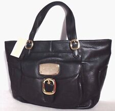 NWT Michael Kors Hudson DownTown Large Lether Tote, Black