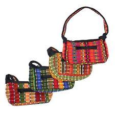 TX353 Two Small Canoe Bag Casual Woven Cotton Purse Artisan Made Fair Trade