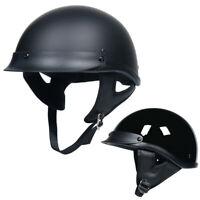 Black Half Face Motorcycle Helmet DOT Approved Motorbike Helmet Motocycle Helmet
