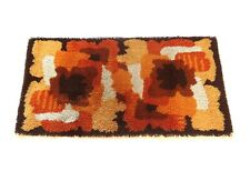 ORIGINAL ABSTRACT 70s SPACE AGE CARPET RUG SHAG VINTAGE MID CENTURY D. MODERN