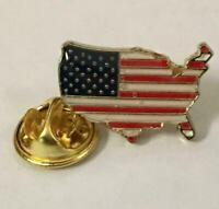 UNITED STATES USA FLAG MAP EMBLEM LAPEL HAT PIN BADGE 1.1 INCHES