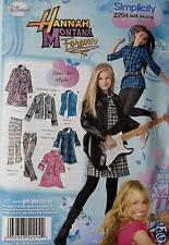 Hannah Montana Girls Clothing Pattern  Sizes 8 to 16  Simplicity 2294  NIP