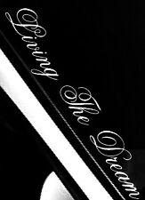 """LIVING THE DREAM""WINDSCREEN  STICKER CLIO, JDM EURO STANCE VW SAXO 550x100mm"