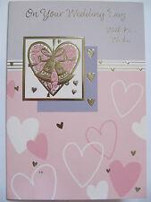 ARGENTO Colorato Campane & Cuori sul tuo wedding Day greeting card