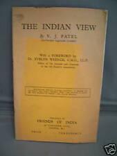 The Indian View by V J Patel - Presidental Address