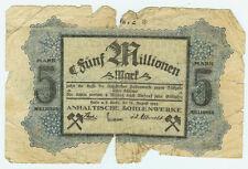 Notgeld halle 5 millones de marcos 1923