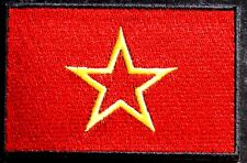 Red Army Soviet Flag Embroidered Iron Sew On Patch Badge USSR Russia Communist