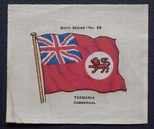 SCARCE John Sinclair Silk TASMANIA COMMERCIAL issued in 1914 FLAGS Sixth Series