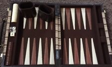 """Vintage Aires of Beverly Hills Backgammon Game in 10.5"""" x 7.5"""" Tweed Plaid Case"""