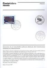 ITALIA 2007 ELETTROTECNICA    BOLLETTINO COMPLETO DI FRANCOBOLLI FDC