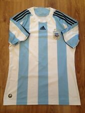 4,6/5 ARGENTINA 2007 2009 ORIGINAL FOOTBALL SOCCER HOME JERSEY SHIRT CAMISETA