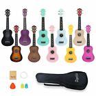 21 inch Ukulele Soprano Acoustic Mini Hawaii Guitar Music Instrument W/Gig Bag