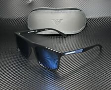 EMPORIO ARMANI EA4097 501755 Black Dark Blue Mirror Blue 56 mm Men's Sunglasses