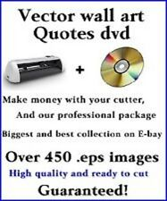 450+ .eps Wall Art Quotes & Images ready to cut with vinyl cutter. With jpg's.