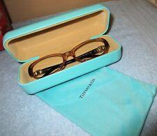 Tiffany & Co. Tortoise Frames,TF2022-8009, 53.16.135, & Turquoise Hard Case,NWOT