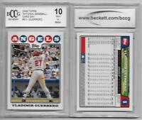 VLADIMIR GUERRERO SR 2008 TOPPS GRADED BCCG 10+ 25 PAPER LA ANGELS VLAD HUGE LOT