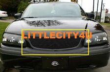 FOR 2000 2001 2002 2003 2004 2005 Chevy Impala Black Billet Grille Grill Insert