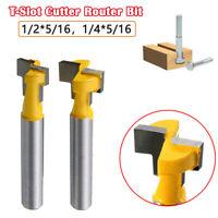 Holz T-Slot Cutter Router Bit Schaftfräser für1-1/16''Hex Bolt 1/4&1/2''Schaft