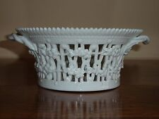 Rare Royal Copenhagen Blanc de Chine Flora Danica Fruit Bowl-FACTORY 2nd