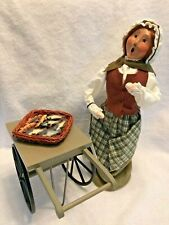 Byers Choice Caroler Fish Monger Lady with Cart, 2001. Cries of London series