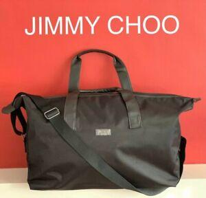 🆕💙💜JIMMY CHOO DESIGNER MENS Large BLACK Weekend GYM Bag NEW SEALED!!