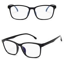 Men Women Fashion Square Full Frame Clear Lens Plain Glasses Eyewear Eyeglasses