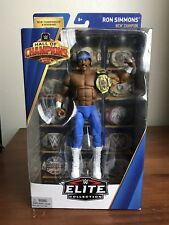 WWE RON SIMMONS HALL OF CHAMPIONS ELITE FIGURE WITH WCW TITLE BELT - BRAND NEW