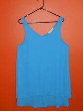 Painted Threads blue, sleeveless tunic. Size M