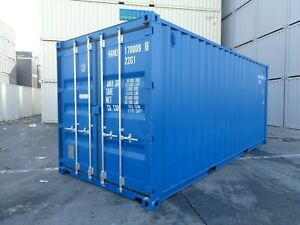 20`DV Seecontainer NEU RAL 5010 Lagercontainer Reifencontainer Stahlcontainer