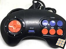 Sega Mega Drive juego de video Vintage terceros rápido disparo Controlador Pad 2