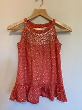 Girls Marks and Spencer Autograph Sequin Floral Summer Top - Age 9