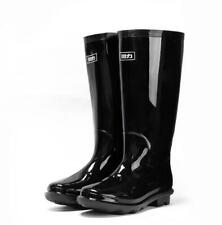 Mens Patent Leather Rain boots non-slip Mid Calf Boots Winter Waterproof Shoes M