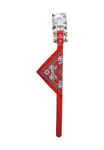Large Dog Collar with Red Bandana