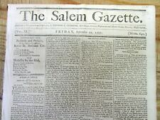<1797 newspaper with Headline on BUILDING of WASHINGTON DC White House CAPITOL