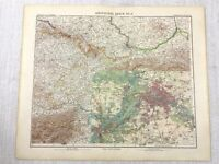 1907 Antik Map Of Deutschland Berlin Stadt Plan Potsdam Brandenburg Gotha