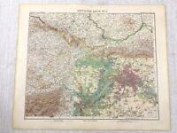 1907 Antik Map Of Deutschland Berlin Stadt Plan Potsdam Brandenburg Gotha