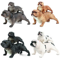 2Pcs American bully pitbull Family Dog Pet Animal Figure Collector Toy Kid Gift
