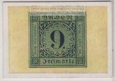 1930s Trade Ad Card - 1851 Baden German State 9 Kreifzer Postage Stamp