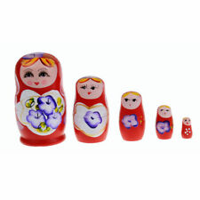 5 in 1 Dolls Wooden Russian Nesting Babushka Matryoshka Hand Painted Gift Toy