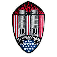 VEGASBEE® SEPTEMBER 9-11 NY IN MEMORIAM EMBROIDERED PATCH PATRIOT IRON-ON 4.5""