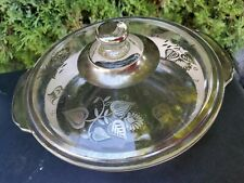 Vtg 1960s Georges Briard Fire King 2 Qt Covered Casserole Dish w/Gold