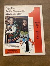 1974 Eagle River Worlds championship snowmobile Derby Program