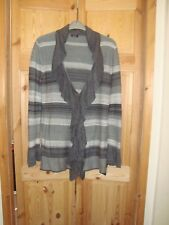 New with tag size 18 Roman Originals cardigan grey striped soft silky feel knit