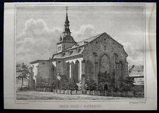 FLENSBURG Marienkirche. Originale Lithographie von 1864
