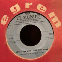1965 CUBAN Egrem EL MUNDO Himno Guerrillero Marcha America Latina Fidel Castro
