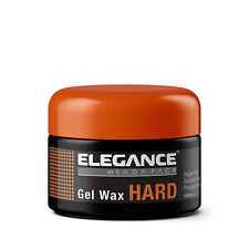 Elegance Barber Stylist Hair Gel Wax Hard w/ Argan Oil 3.3oz -NEW FACTORY SEALED