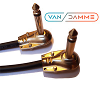 "Guitar Effects Patch Lead - Custom Length - Van Damme Cable Pancake Jack (1/4"")"